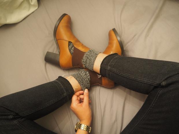 Cut-out Tan Boots - Asos - similar here